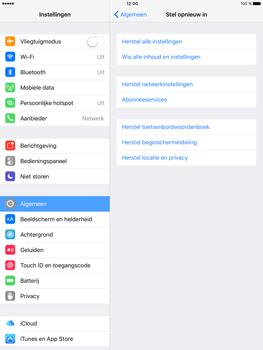 Apple iPad Pro 9.7 inch (Model A1674) - Instellingen aanpassen - Fabrieksinstellingen terugzetten - Stap 5