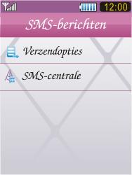 Samsung S7070 Diva - SMS - Handmatig instellen - Stap 6