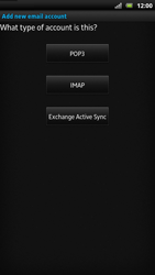 Sony LT22i Xperia P - E-mail - Manual configuration - Step 7