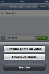 Apple iPhone 4 S - iOS 6 - MMS - envoi d'images - Étape 7