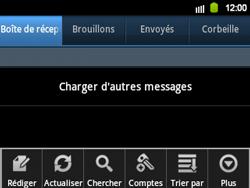 Samsung B5510 Galaxy TXT - E-mail - envoyer un e-mail - Étape 4