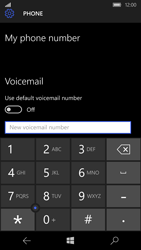 Microsoft Lumia 650 - Voicemail - Manual configuration - Step 8