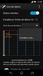 Sony Xperia L - Internet - Ver uso de datos - Paso 6