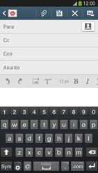 Samsung Galaxy S4 - E-mail - Escribir y enviar un correo electrónico - Paso 5