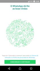 Sony Xperia XZ - Android Nougat - Aplicações - Como configurar o WhatsApp -  5