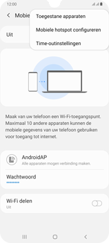Samsung galaxy-a70-dual-sim-sm-a705fn - WiFi - Mobiele hotspot instellen - Stap 8