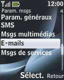 Nokia 2330 classic - E-mail - Configurer l