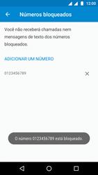 Motorola Moto G5 - Chamadas - Como bloquear chamadas de um número específico - Etapa 10