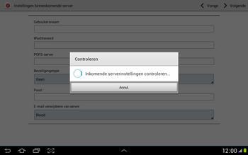 Samsung N8000 Galaxy Note 10-1 - E-mail - Handmatig instellen - Stap 11