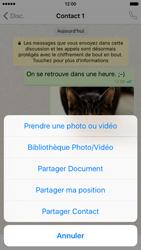 Apple iPhone 6 iOS 9 - WhatsApp - Partager des photos et votre emplacement avec WhatsApp - Étape 22