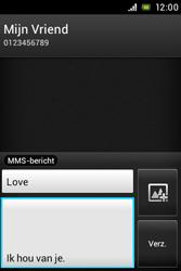 Sony ST23i Xperia Miro - MMS - afbeeldingen verzenden - Stap 11