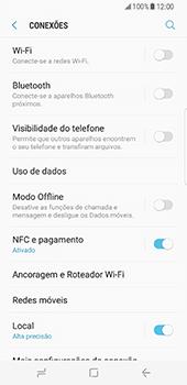 Samsung Galaxy S8 - Internet no telemóvel - Como ativar os dados móveis -  5