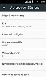 Alcatel U3 - Aller plus loin - Mettre à jour le logiciel interne de votre mobile - Étape 6