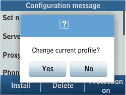 Samsung C3500 Chat 350 - MMS - Automatic configuration - Step 5