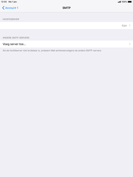 Apple ipad-mini-2-ios-12 - E-mail - Account instellen (POP3 met SMTP-verificatie) - Stap 17
