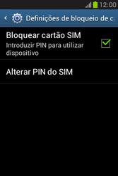 Samsung Galaxy Fame - Segurança - Como ativar o código PIN do cartão de telemóvel -  8