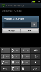 Samsung I9300 Galaxy S III - Voicemail - Manual configuration - Step 6
