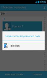 Huawei Ascend Y300 - Contacten en data - Contacten kopiëren van SIM naar toestel - Stap 8