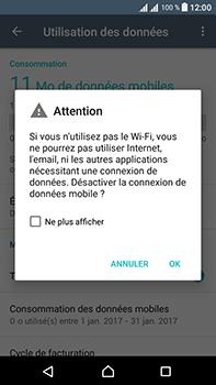Sony Xperia L1 - Internet et connexion - Désactiver la connexion Internet - Étape 6