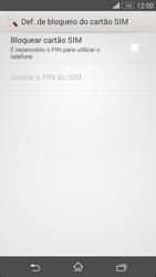 Sony Xperia M2 - Segurança - Como ativar o código PIN do cartão de telemóvel -  6