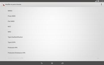 Sony Xperia Tablet Z2 (SGP521) - MMS - configuration manuelle - Étape 13