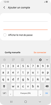 Samsung Galaxy S9 Android Pie - E-mail - Configurer l