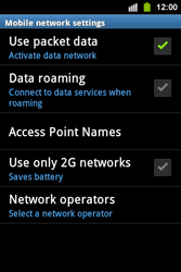 Samsung S5830i Galaxy Ace i - Internet - Enable or disable - Step 6