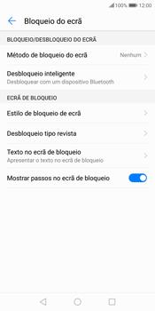 Huawei P Smart - Segurança - Como ativar o código de bloqueio do ecrã -  6