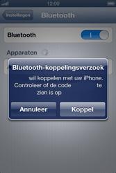 Apple iPhone 4 met iOS 6 - Bluetooth - koppelen met ander apparaat - Stap 8