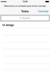 Apple iPhone 4S iOS 7 - Mensajería - Escribir y enviar un mensaje multimedia - Paso 5