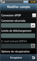 Samsung S8000 Jet - E-mail - Configurer l