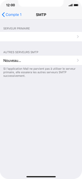 Apple iPhone X - E-mail - Configuration manuelle - Étape 20