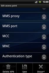Sony Ericsson Xperia Mini Pro - Mms - Manual configuration - Step 11