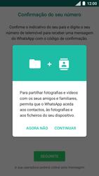 Motorola Moto C Plus - Aplicações - Como configurar o WhatsApp -  6