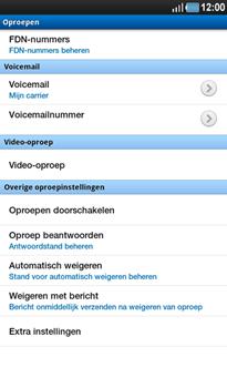 Samsung P1000 Galaxy Tab - Voicemail - Handmatig instellen - Stap 5