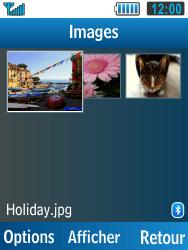 Samsung C3590 - Photos, vidéos, musique - Envoyer une photo via Bluetooth - Étape 5