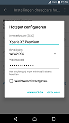 Sony Xperia XZ Premium (G8141) - WiFi - Mobiele hotspot instellen - Stap 9