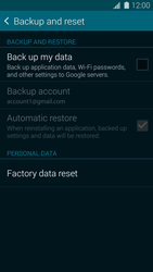 Samsung Galaxy S5 G900F - Device maintenance - Create a backup of your data - Step 5