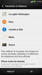 HTC One - Aller plus loin - Restaurer les paramètres d'usines - Étape 6