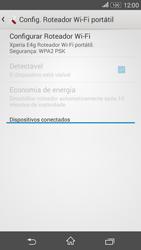 Sony Xperia E4G - Wi-Fi - Como usar seu aparelho como um roteador de rede wi-fi - Etapa 11