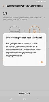 Samsung Galaxy S8 Plus (G955) - Contacten en data - Contacten kopiëren van toestel naar SIM - Stap 13