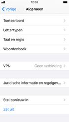 Apple iphone-se-met-ios-13-model-a1723 - Instellingen aanpassen - Fabrieksinstellingen terugzetten - Stap 4