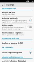 Huawei G620s - Segurança - Como ativar o código PIN do cartão de telemóvel -  4