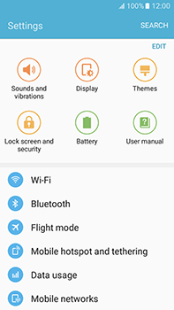 Samsung Galaxy J7 (2016) (J710) - Internet - Enable or disable - Step 4
