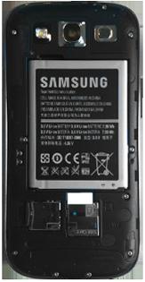 Samsung I9300 Galaxy S III - Primeros pasos - Quitar y colocar la batería - Paso 6