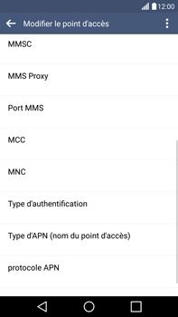 LG H815 G4 - Internet - Configuration manuelle - Étape 12