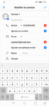 Huawei Mate 20 lite - Contact, Appels, SMS/MMS - Ajouter un contact - Étape 9