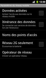 Google Nexus S - Réseau - Utilisation à l