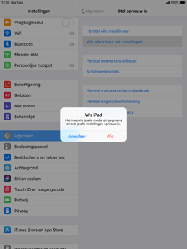 Apple ipad-pro-9-7-ios-12 - Resetten - Fabrieksinstellingen terugzetten - Stap 6
