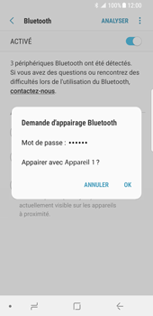 Samsung Galaxy S8 - Android Oreo - Bluetooth - connexion Bluetooth - Étape 10